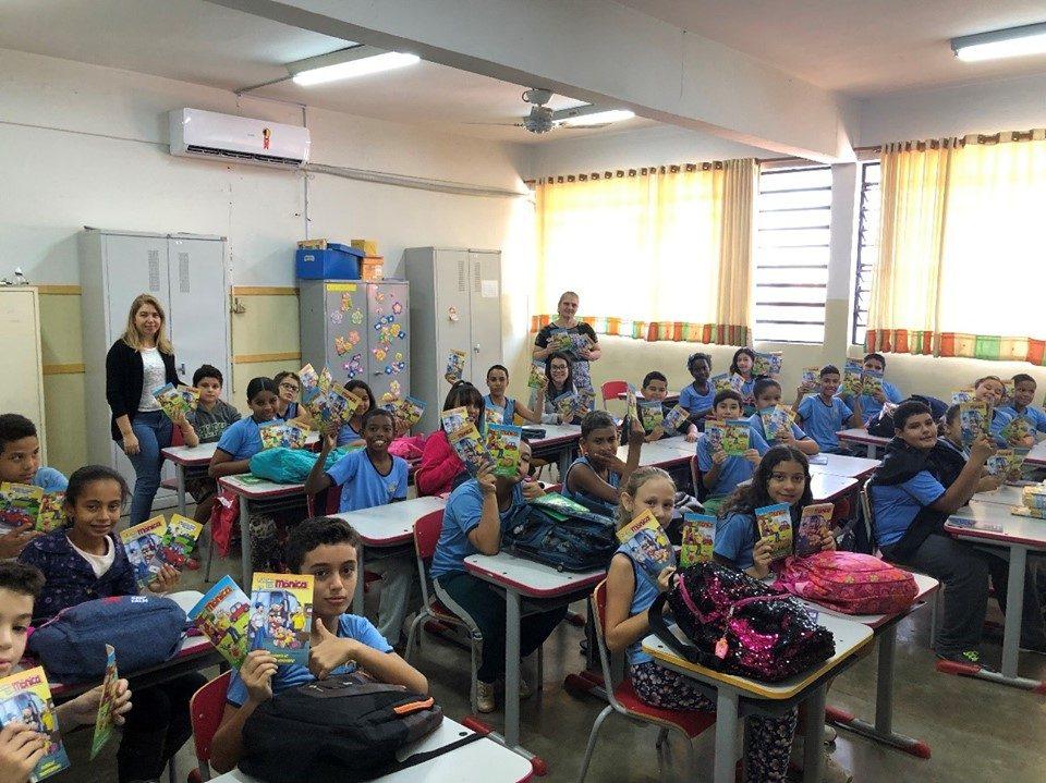EMEB Yolanda Carolina Giglio Villela recebeu Projeto Trânsito Seguro da TEBE