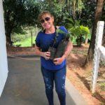 Dona Leacy Colossal, levou 12 mudas de árvores frutíferas.