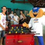 TEBINHO com seu novo amiguinho Daniel Pereira.