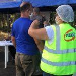 Durante a ação equipe da Vigilância Epidemiológica de Bebedouro aplica vacina contra gripe H1N1.