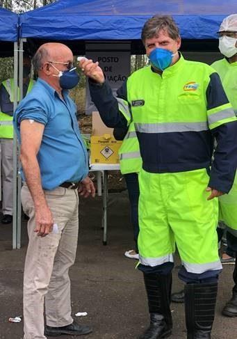 TEBE continuou com a campanha de vacinação contra a gripe para os caminhoneiros