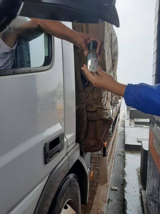 TEBE realizou ação em apoio aos caminhoneiros