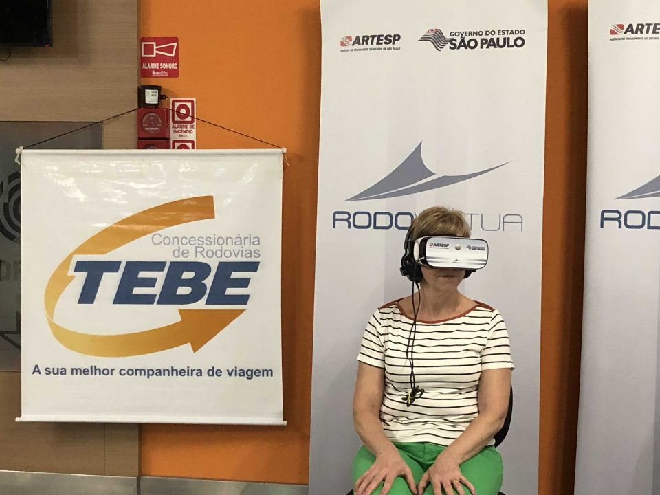 O Centro Universitário UNIFAFIBE recebe Rodovírtua – Óculos de realidade virtual da ARTESP