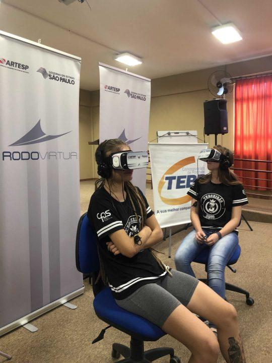 TEBE leva para ETEC de Bebedouro o Rodovírtua – Óculos de realidade virtual da ARTESP