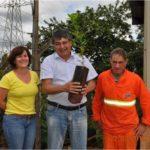 O diretor de obras e engenharia da TEBE, Henrique Borges da Cunha, aderiu à campanha e pegou uma muda de árvore frutífera para plantar em sua residência.