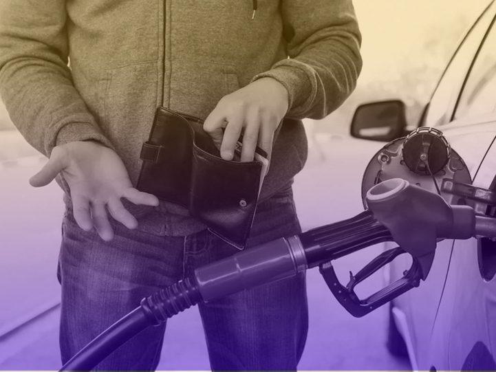 Economizando combustível.