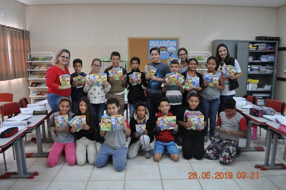 A escola EMEB Profa. Efigênia Colósio Denardi recebeu o Projeto Trânsito Seguro da TEBE