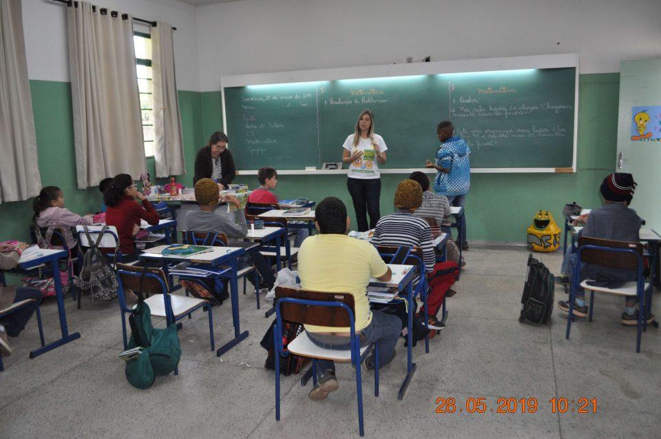 TEBE levou Projeto Trânsito Seguro para EMEB Profa. Izabel Motta Silva Cardoso