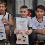 Gabriel Cirino, Gabriel Rodrigues e Pedro Henrique, passaram pelo projeto e ganharam o kit do Projeto Educação no Trânsito, Responsabilidade de Todos!