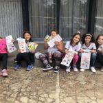 Yasmin Ramos, Beatriz Oicava, Clara Tota, Lara Lais, Caroline Borboleno e Sara Beatriz, alunas do 5º ano, realizadas por terem participado do projeto.