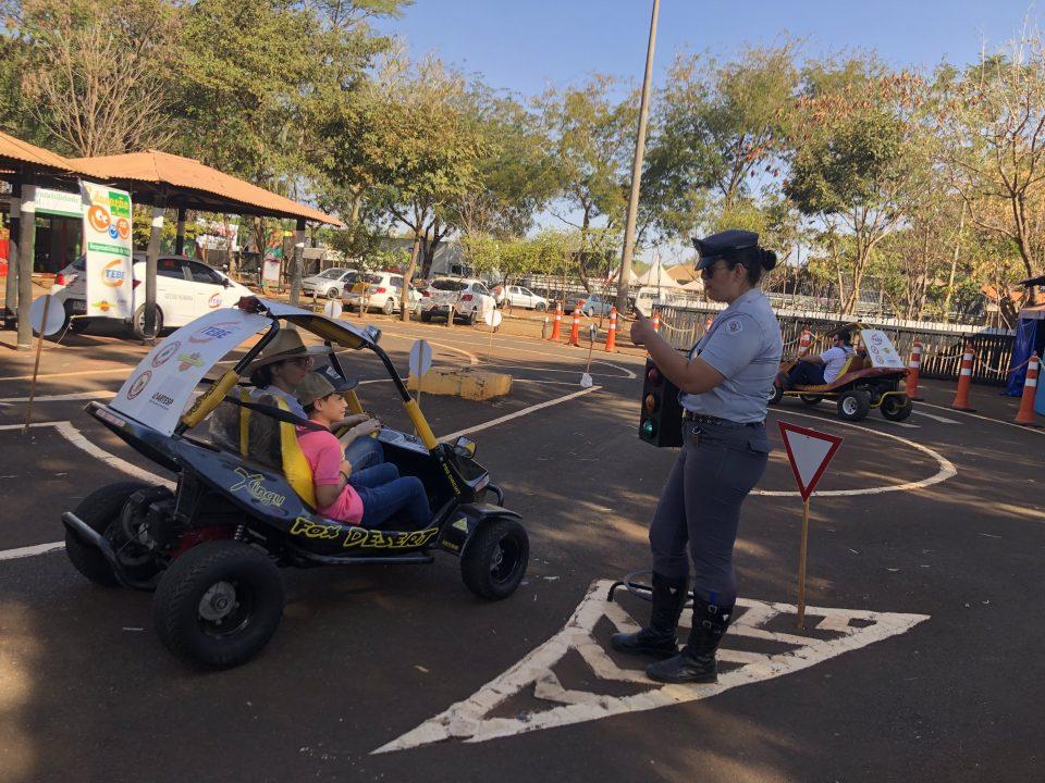 TEBE realiza o projeto Educação no Trânsito no Rancho do Peãozinho e atende 6000 crianças
