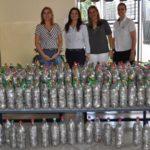 """Lucia Michelon, Gisela Oliver, Cristiane Ribeiro e Lucilene Cabrera, com os lacres doados para campanha """"Lacre do Amor"""" da TEBE."""