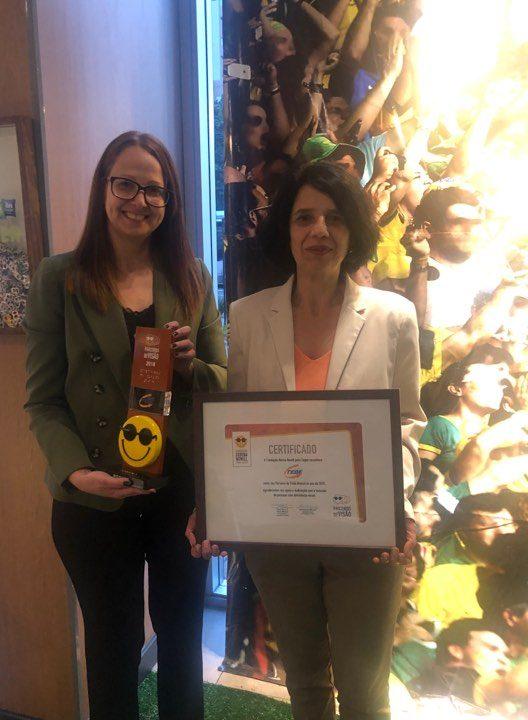 TEBE recebe homenagem Parceira de Visão da Fundação Dorina Nowill