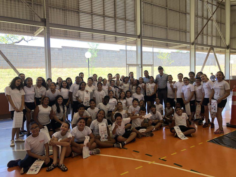 TEBE levou o projeto Educação no trânsito na escola SESI em Barretos