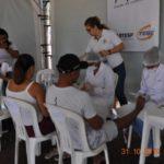 A podologia foi uma das ações mais procurada durante a campanha de saúde para o caminhoneiro.
