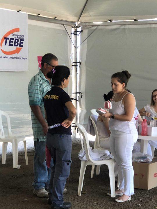 TEBE promoveu Campanha de Saúde para os Caminhoneiros na Rodovia Brigadeiro Faria Lima