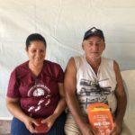 Sr. Paulo, participou da ação com sua esposa dona Rosa e aproveitou para renovar seu visual.