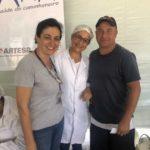 Equipe do SENAC, que realizou a podologia com o caminhoneiro Carlos.