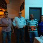 Equipe da TEBE representada pelo Gerente de Operações Fernando dos Santos e Rita de Cássia Rocha. Os Motoristas, Celio Gonçalves e Dario Henrique Lopes Vilella, receberam a orientação e os kits educativos.